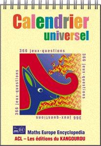 501e305856d1 Calendrier universel Kangourou